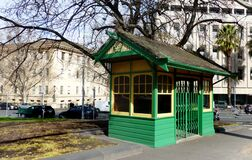 Melbourne tram shelters. Royalty Free Stock Images
