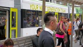 Melbourne tram station stock video footage