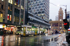 Melbourne tramway network Stock Images