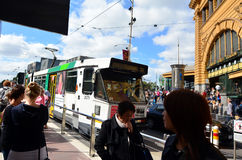 Melbourne tramway network Stock Photography