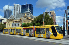 Melbourne tramway network Stock Image