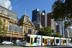 Melbourne tramway network Royalty Free Stock Image