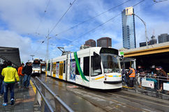 Melbourne tramway network Stock Photo