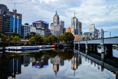 Melbourne två gånger Fotografering för Bildbyråer