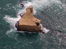 Melbourne Twelve Apostles - Ariel View of a Top Flat Island Stock Image