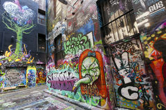 Melbourne ulicy graffiti Obraz Stock