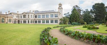 Free Melbourne, VIC/Australia-June 23rd 2020: The Heritage Building Of Werribee Mansion And Its Formal Garden. Royalty Free Stock Images - 188120459