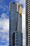 Australia, Victoria, Melbourne, Eureka Tower. Melbourne, VIC, Australia - November 03, 2017: Eureka Tower skyscraper, tourist attraction with skydeck viewing Stock Photos