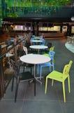 Australia, Victoria, Melbourne, Shopping Mall. Melbourne, VIC, Australia - November 03, 2017: Inside St. Collins Lane, shopping mall, restaurant with colorful Stock Photos
