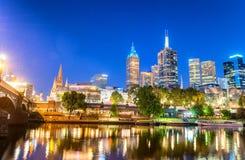 Melbourne, Victoria - Australia. Beautiful city skyline Royalty Free Stock Image
