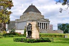 Melbourne Victoria, Australien - relikskrin av minnet Arkivbilder