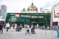 Melbourne Visitor Centre is located underground of Federation Sq. Uare. Australia:11/04/18 stock images