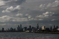 Melbourne vom Meer lizenzfreie stockfotografie