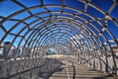 Melbourne Webb Bridge Stock Photo