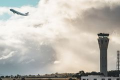 Melbourne, Wiktoria Australia, Maj, - 21, 2018: Cathay Pacific Boeing 747-800 Zdjęcia Royalty Free