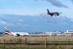Melbourne, Wiktoria Australia, Maj, - 21, 2018: Jetstar Airways Aerobus A320 obrazy stock