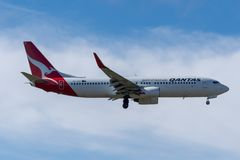 Melbourne, Wiktoria Australia, Maj, - 21, 2018: Qantas Airways Boeing 737 zdjęcia royalty free