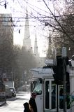 Melbourne. Winter morning. Stock Image
