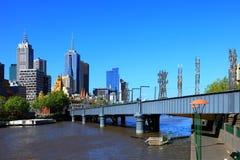 Melbourne - Yarra Fluss Lizenzfreies Stockbild