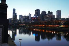 Melbourne Yarra River Royalty Free Stock Photo