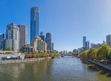 Melbourne Yarra river Royalty Free Stock Photos