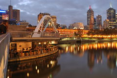 Melbourne Yarra River Bar Stock Photography