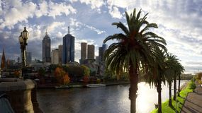 Melbourne and the yarra river Stock Photography