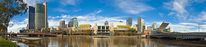 Melbourne Yerra river large panorama stock photography