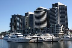 Melbourne, zonas das docas Foto de Stock Royalty Free