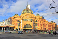 Melbournes flinders street station australia Royalty Free Stock Photo