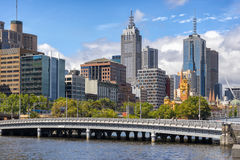 Melbournes southbank. Southbank on the Yarra River in Melbourne Stock Images