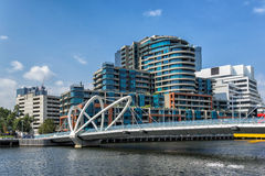 Melbournes southbank. Southbank on the Yarra River in Melbourne Royalty Free Stock Image