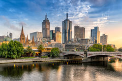 Melbournes southbank. Southbank on the Yarra River in Melbourne Royalty Free Stock Photos