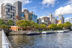 Melbournes southbank. Southbank on the Yarra River in Melbourne Royalty Free Stock Photography