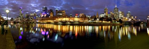 Melbournes yarra river Royalty Free Stock Photography
