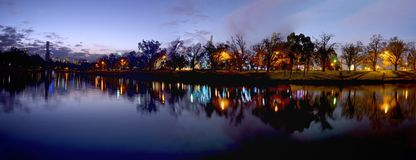 Melbournes yarra river Royalty Free Stock Image
