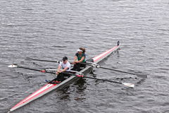 MelbU Unaff Composite races in the Head of Charles Regatta Women's Master Doubles Stock Images