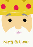 MELCHIOR. Christmas greeting with Melchior's face close-up vector illustration