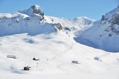 Melchsee-Frutt, Suíça Fotos de Stock Royalty Free