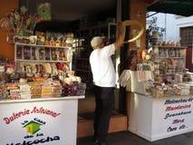 Melcocha制造在Baños,厄瓜多尔 免版税库存图片