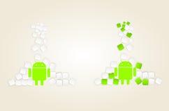 Melcocha de Android Imagen de archivo libre de regalías