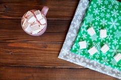 Melcocha del café Visión superior Concepto, forma de vida y f de la Navidad Imagen de archivo