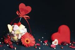 Melcochas, accesorios hermosos para el día del ` s de la tarjeta del día de San Valentín Imagen de archivo
