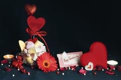 Melcochas, accesorios hermosos para el día del ` s de la tarjeta del día de San Valentín Fotografía de archivo