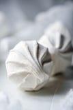 Melcochas blancas suaves del aire Fotos de archivo
