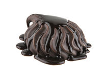 Melcochas en el chocolate aislado en blanco Fotografía de archivo libre de regalías