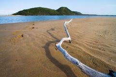 Melden Sie den Sand an Lizenzfreies Stockbild