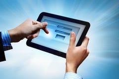 LOGON mit E-Mail und Passwort Lizenzfreies Stockfoto