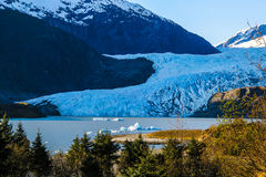 Meldenhall glaciär Royaltyfria Bilder
