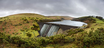 Meldon reservoir. Near Okehampton, Devon, United Kingdom. Taken on a dull day in February stock photos